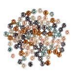 Extra Value Glass Pearls 8mm: 3 Packs of 40